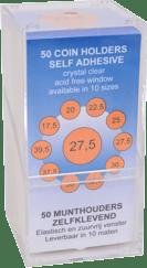 WL Munthouders zelfklevend 17,5 mm 50 stuks